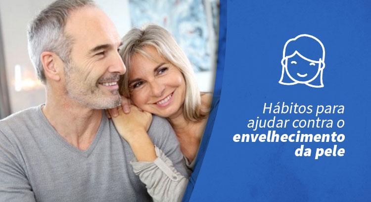 Hábitos para ajudar contra o envelhecimento da pele